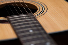 Detail of classic guitar with shallow depth of field Stock Photos