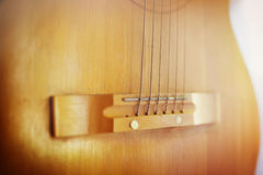 Detail of classic guitar with shallow dof Stock Photography