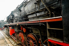 Detail of a classic steam locomotive Royalty Free Stock Photo
