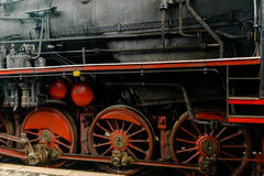 Detail of a classic steam locomotive Royalty Free Stock Photography