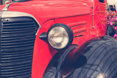 Detail of classic vintage car Royalty Free Stock Image