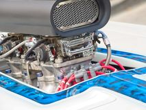 Vintage car engine. Detail of a classic vintage car engine, selective focus royalty free stock photos