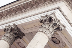 Detail of Classical Architecture Column and Frieze Royalty Free Stock Photo