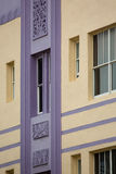 Detail of a classical art deco facade on Ocean drive in Miami Be Royalty Free Stock Photography