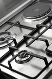 Detail of classical cooking stove Royalty Free Stock Photos