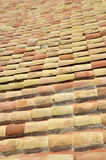 Detail of clay roof tiles Royalty Free Stock Images