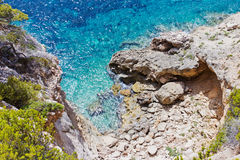 Cliff coast in Spain Royalty Free Stock Images