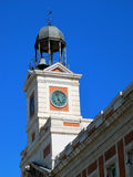 Detail clock from Puerta del Sol in Madrid Spain Stock Photos