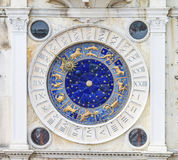 A Detail of The Clock Tower in Venice Stock Photography