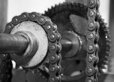 Detail of clockwork Stock Photography