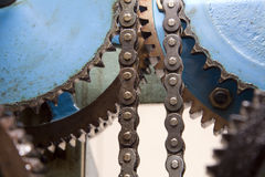 Detail of clockwork from colcktower Royalty Free Stock Images