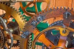 Detail of clockwork from colcktower Stock Photo