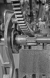 Detail of clockwork from colcktower Stock Photos