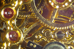 Detail of a clockwork Royalty Free Stock Image