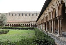 Detail of the Cloister of Monreale Cathedral Royalty Free Stock Image