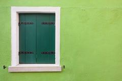 Detail of a close balcony from Burano island, Venice Stock Photography
