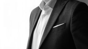 Jacket men`s and white shirt Royalty Free Stock Photography
