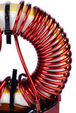 Detail Close-up View of a Industrial Toroidal Choke Coil Royalty Free Stock Photo