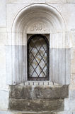 Detail of closed window of the Cathedral of Modena, Italy Royalty Free Stock Images