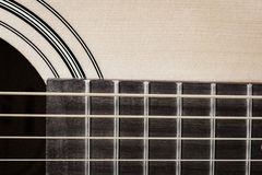 Detail closeup of classic guitar Royalty Free Stock Photography