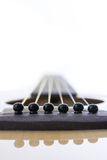 Detail closeup of classic guitar Stock Image
