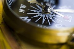 Detail closeup compass Royalty Free Stock Photography