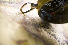 Detail closeup compass Stock Photography