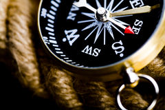 Detail closeup compass Royalty Free Stock Image