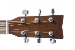 Detail closeup of head classic guitar Stock Images