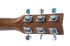 Detail closeup of head classic guitar Royalty Free Stock Photography
