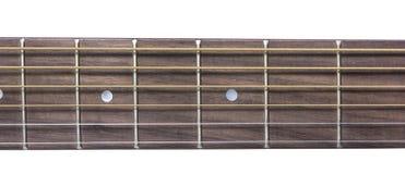 Detail closeup of neck classic guitar Stock Photos