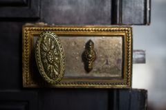 Free Detail Closeup Of Vintage Handle Door Lock Stock Images - 109690534