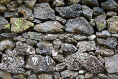 Detail of rocks in a dry stone wall. Detail/closeup of rocks in a dry stone wall Stock Photos