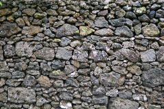 Detail of rocks in a dry stone wall. Detail/closeup of rocks in a dry stone wall Stock Photography