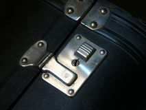 Close detail of old suitcase. stock photos