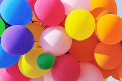 Detail of cluster of party balloons Royalty Free Stock Images