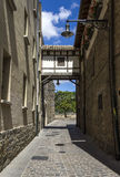 Detail of the cobbled streets of Pamplona Royalty Free Stock Photography