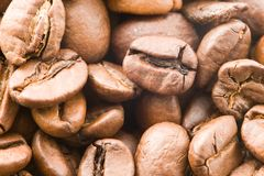 A detail of coffe grains Stock Photos