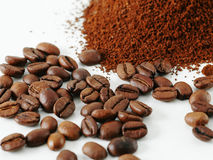 DETAIL OF COFFE GRAINS Royalty Free Stock Images