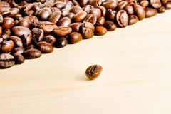 Detail of the coffee bean Stock Images