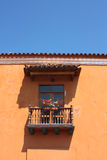 Detail of a colonial house. Typical balcony royalty free stock images