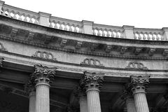 Detail the colonnade of the Kazan Cathedral. Stock Photography