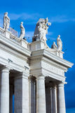 Detail of colonnade of Saint Peter's square. Royalty Free Stock Image