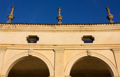 Detail of the Colonnade of Villa Manin Stock Image