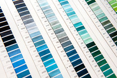 Detail of Color Chart in Clothing Design Studio Royalty Free Stock Photos