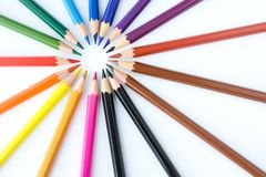 Detail of color crayons Stock Photography