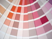 Detail of color guide Royalty Free Stock Photography