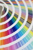 Detail of color guide - chart. Color guide - chart displayed over a white background royalty free stock image