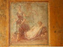 Pompeii Fresco royalty free stock photo
