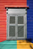 Detail of colored architecture in La Bocca Stock Images